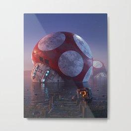Mario Super Mushroom Metal Print