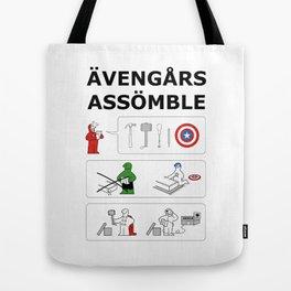 Superheroes Assembling - Colour Tote Bag