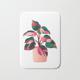 Philodendron Pink Princess PPP Aroid House Plant Lover Bath Mat