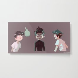 Trio of Mobs Metal Print