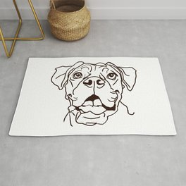 The Boxer Dog Love of my Life Rug