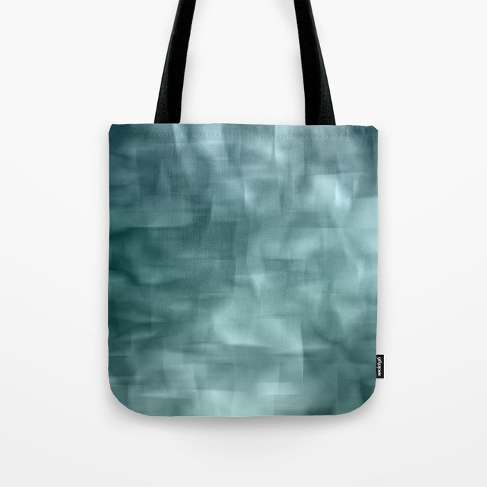 Blue and white abstract ice Tote Bag