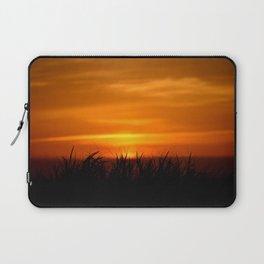 BEACH GRASS IN THE SUNSET Laptop Sleeve