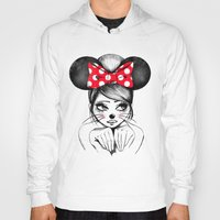 minnie Hoodies featuring Minnie by theavengerbutterfly