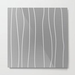 WOOD grey Metal Print