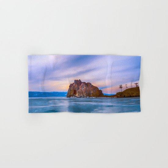 Shaman Rock, lake Baikal Hand & Bath Towel