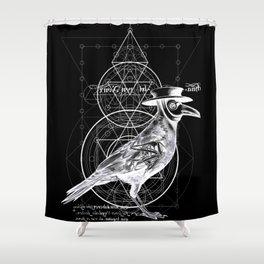 The Raven dark Shower Curtain