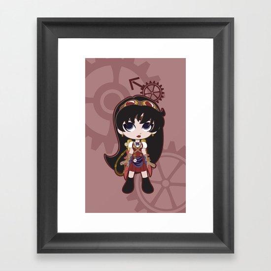 Steampunk Sailor Mars - Sailor Moon Framed Art Print