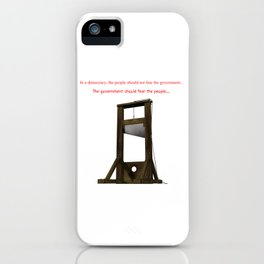 Fear The Guillotine iPhone Case