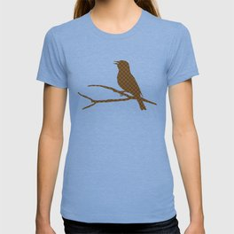 Rustic Brown Bird T-shirt