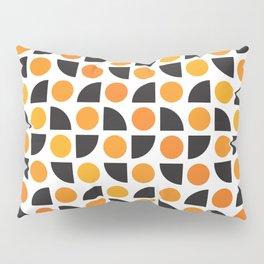 Geometric Pattern 175 (orange spots) Pillow Sham