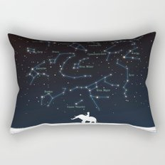 Falling star constellation Rectangular Pillow