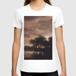 Jacob van Ruisdael - Woodland Scene with Lake T-shirt