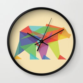 Fractal Geometric bear Wall Clock