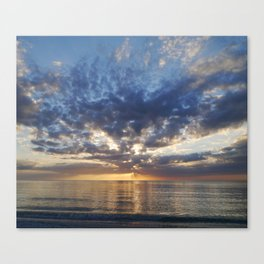 Sunset Over Clearwater Beach Canvas Print