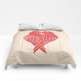 Love Birds (Red) Comforters