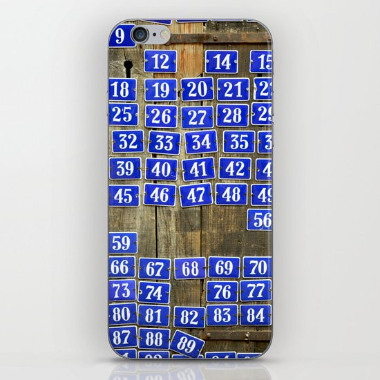 Numbers iPhone & iPod Skin