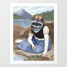 La Raton-laveuse Art Print