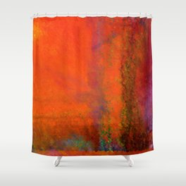 Orange Study #3 Digital Painting Shower Curtain