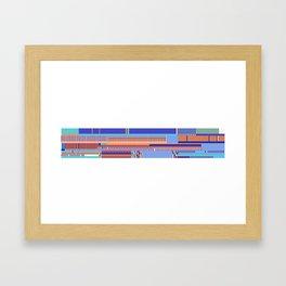 Scandinavian Moon (Blue Salmon Colours) Framed Art Print