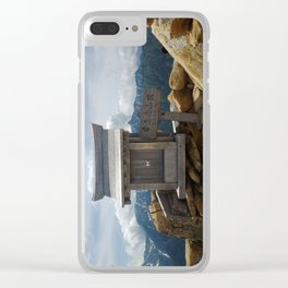 Mountain Shrine Clear iPhone Case