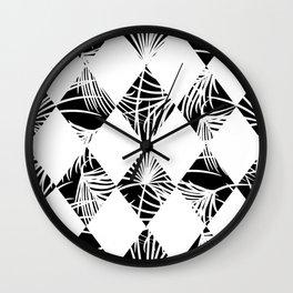 Tropical jungle silhouette nature leaf Wall Clock