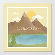 All Things New - yellow (version 2) Canvas Print