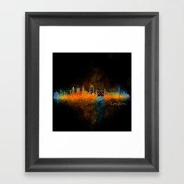 London City Skyline HQ v4 Framed Art Print