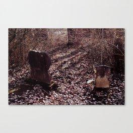 Headstones Canvas Print