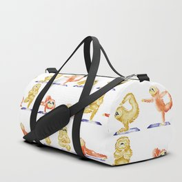Sloth Yoga Watercolor Duffle Bag