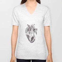 Stippling Heart Unisex V-Neck
