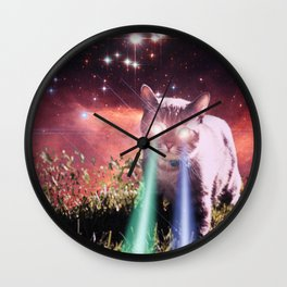 Mega Space Cat Rising Wall Clock