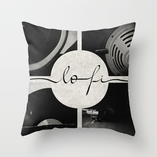 Lo-Fi // Analog Zine Throw Pillow