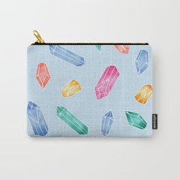 Crystals pattern - Light Blue Carry-All Pouch