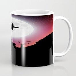 Purple Halloween Witch Silhouette Coffee Mug