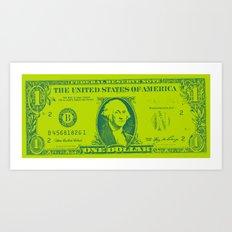 GREEN MONEY Art Print