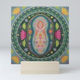 Spring Goddess Mandala Mini Art Print