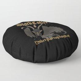Black Coffee Floor Pillow