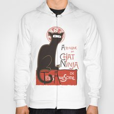 A French Ninja Cat (Le Chat Ninja) Hoody