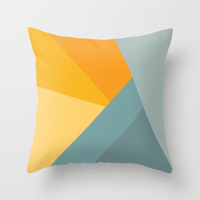 Abstract Mountain Sunrise Throw Pillow