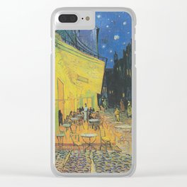 Cafe Terrace at Night by Vincent van Gogh Clear iPhone Case