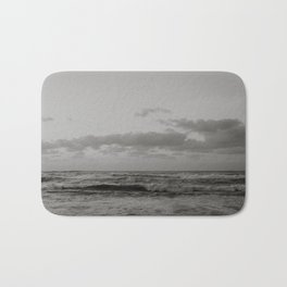 Pacific Ocean in Shades of Grey Bath Mat