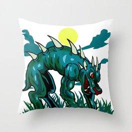 Chupacabra Goatsucker Animal Monster Cryptide Gift Throw Pillow