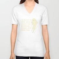ezra koenig V-neck T-shirts featuring Ezra Pound by Patterns of Life