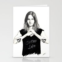 jared leto Stationery Cards featuring Jared Leto fan art by tayeichi