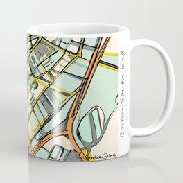 Abstract Map- Boston South End Coffee Mug