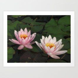 Our Refections Art Print