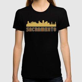 Vintage Style Sacramento California Skyline T-shirt