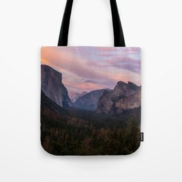 Yosemite Sunset Tote Bag