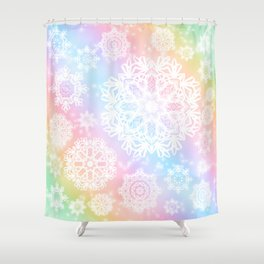 Aurora Frost Shower Curtain
